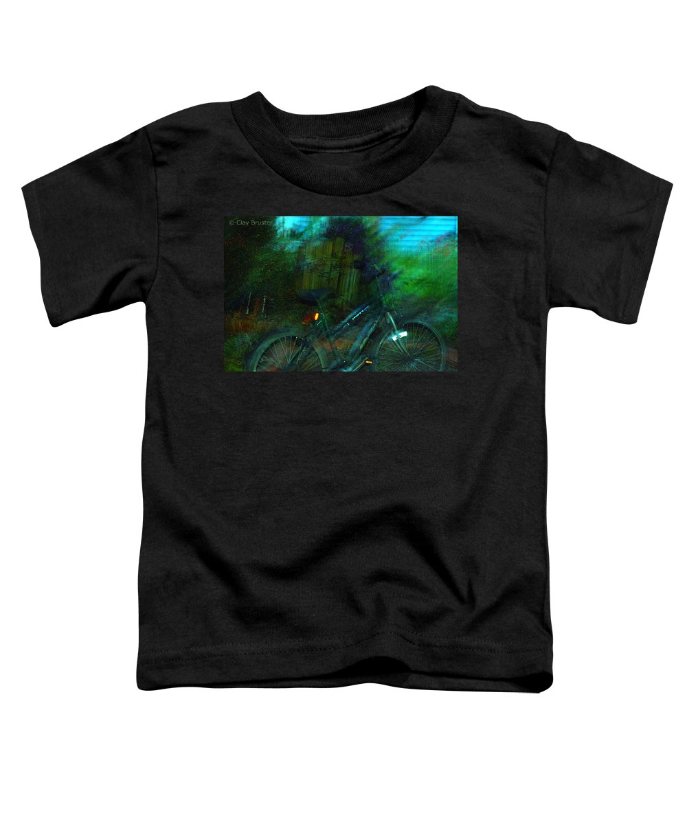 Clay Toddler T-Shirt featuring the photograph Bicycle by Clayton Bruster