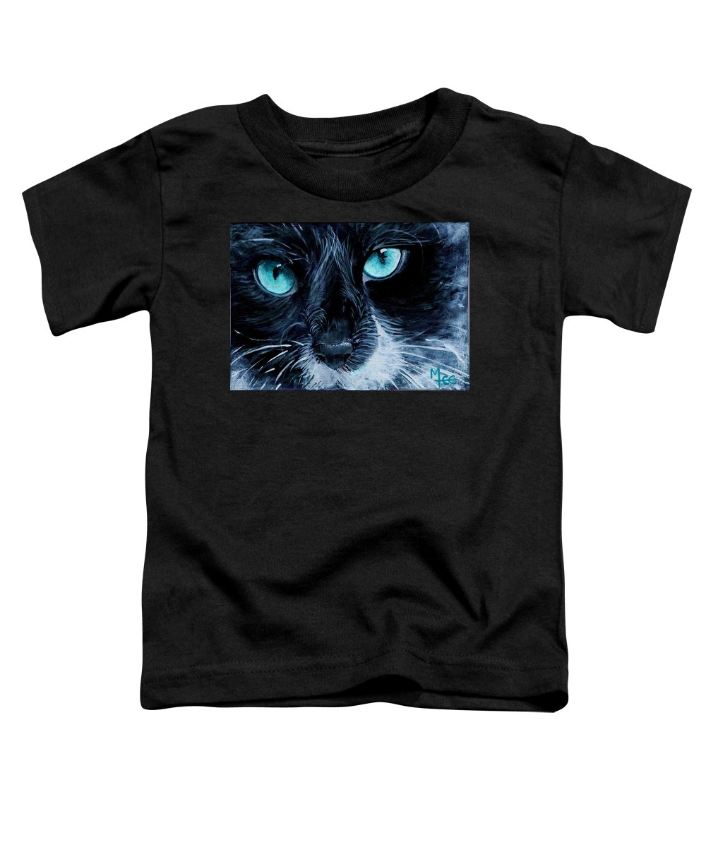 Charity Toddler T-Shirt featuring the painting Big Blue by Mary-Lee Sanders