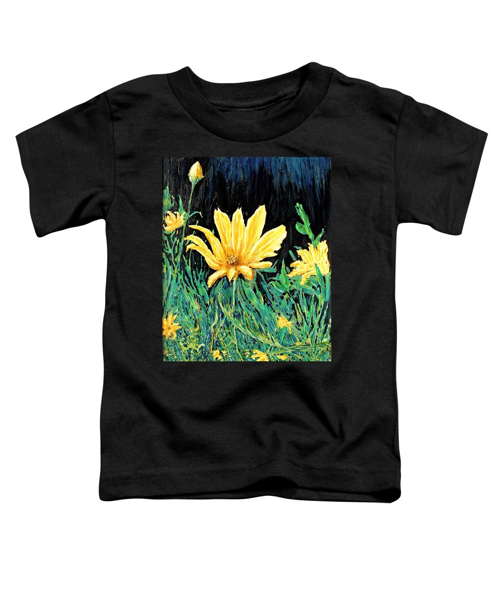 Flower Toddler T-Shirt featuring the painting Big Yellow by Ian MacDonald