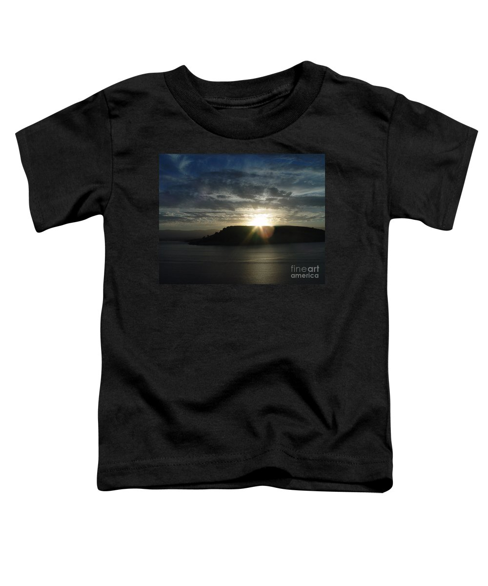 Black Butte Lake Toddler T-Shirt featuring the photograph Black Butte Sunrise by Peter Piatt