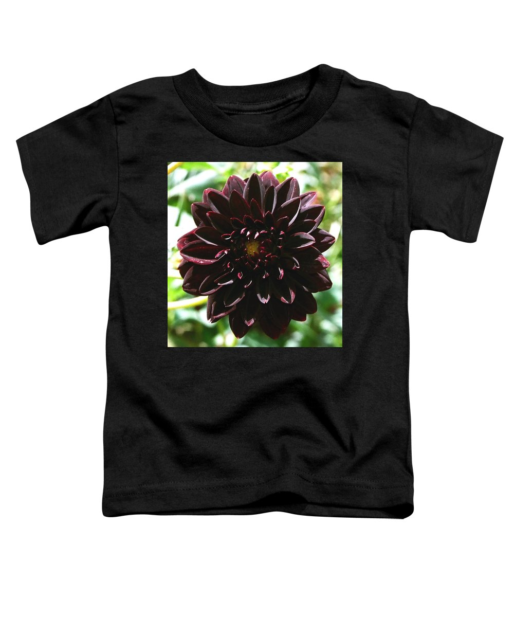 Flower Toddler T-Shirt featuring the photograph Black Dalia by Dean Triolo