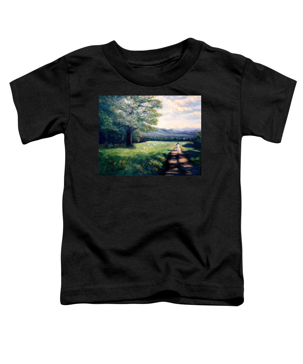 Christian Toddler T-Shirt featuring the painting Black Sheep by Gail Kirtz