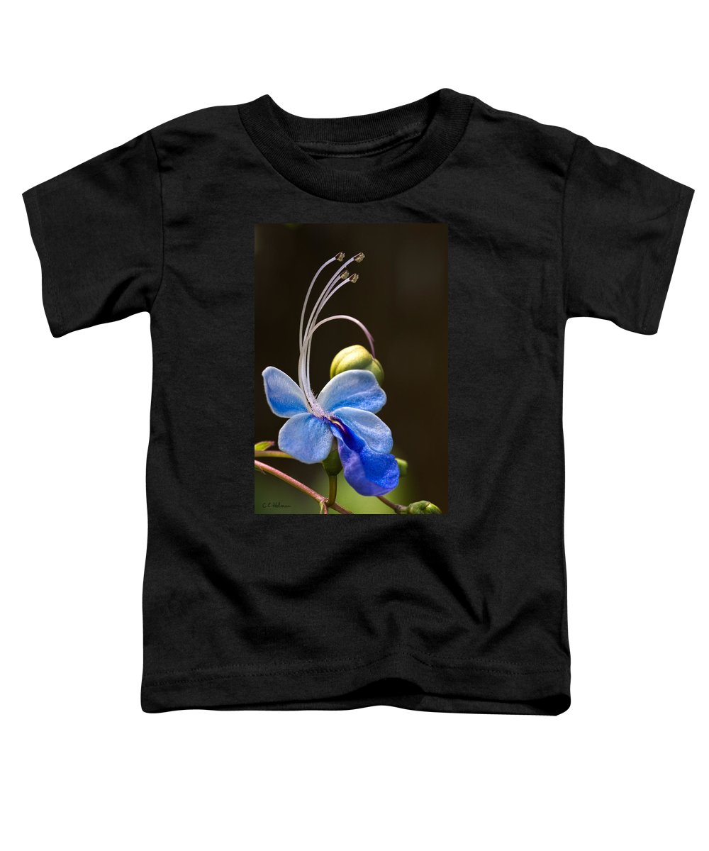 Flower Toddler T-Shirt featuring the photograph Blooming Butterfly by Christopher Holmes