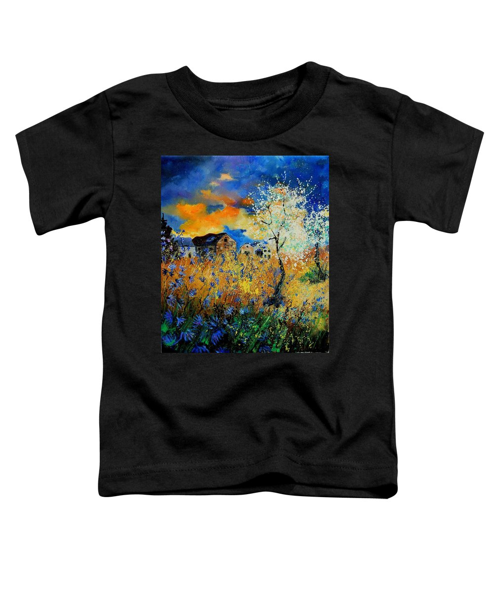 Poppies Toddler T-Shirt featuring the painting Blooming Trees by Pol Ledent