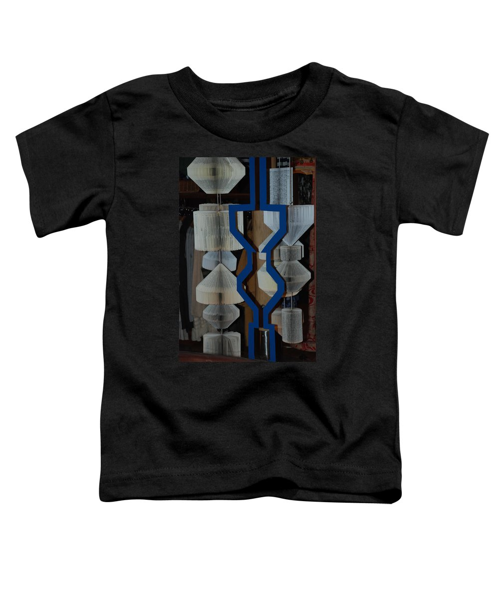 Window Toddler T-Shirt featuring the photograph Blue And White by Rob Hans