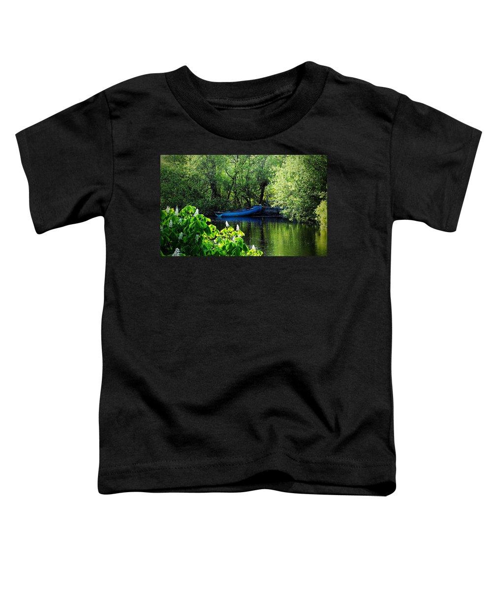 Irish Toddler T-Shirt featuring the photograph Blue Boat Cong Ireland by Teresa Mucha