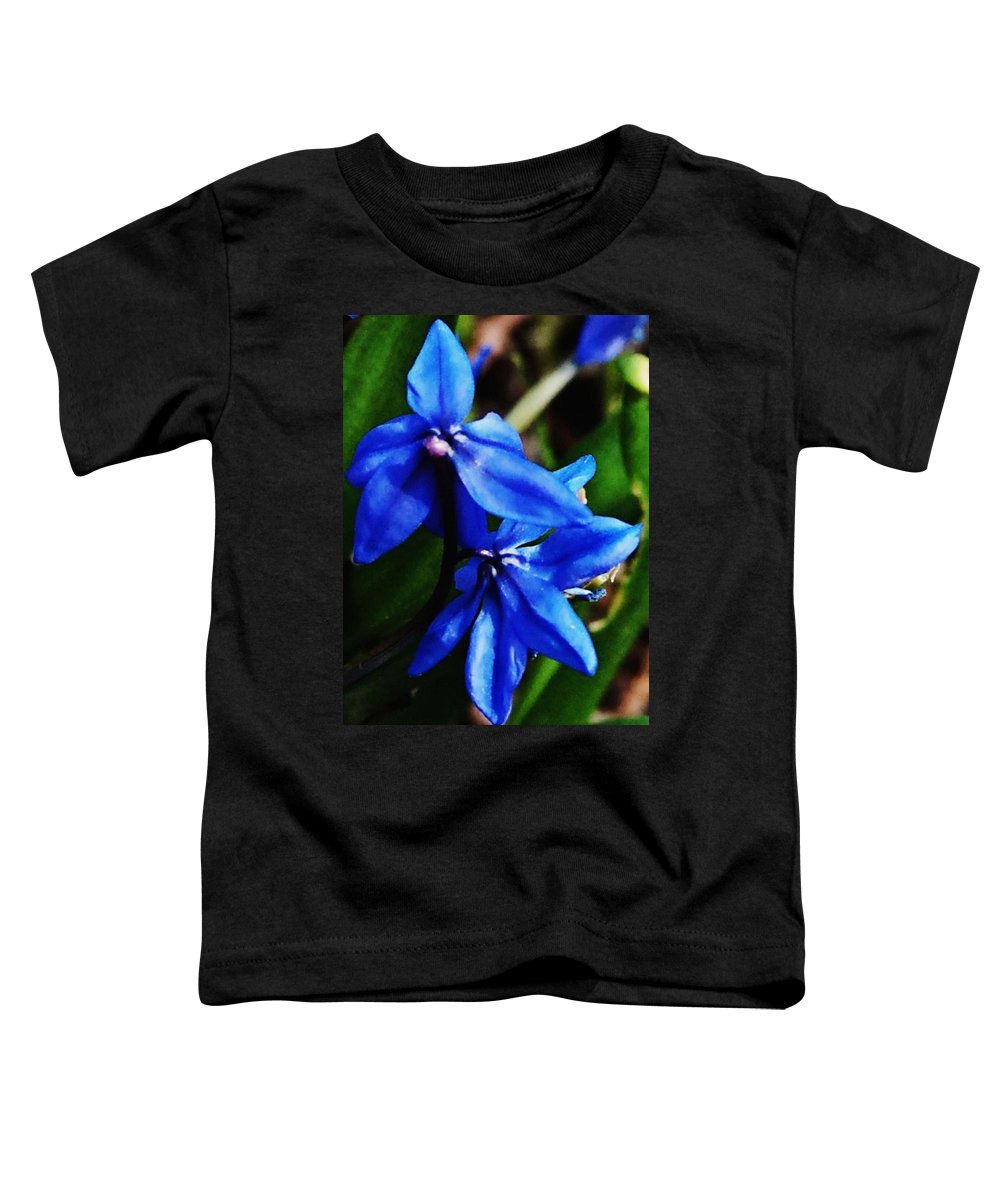 Digital Photo Toddler T-Shirt featuring the photograph Blue Floral by David Lane