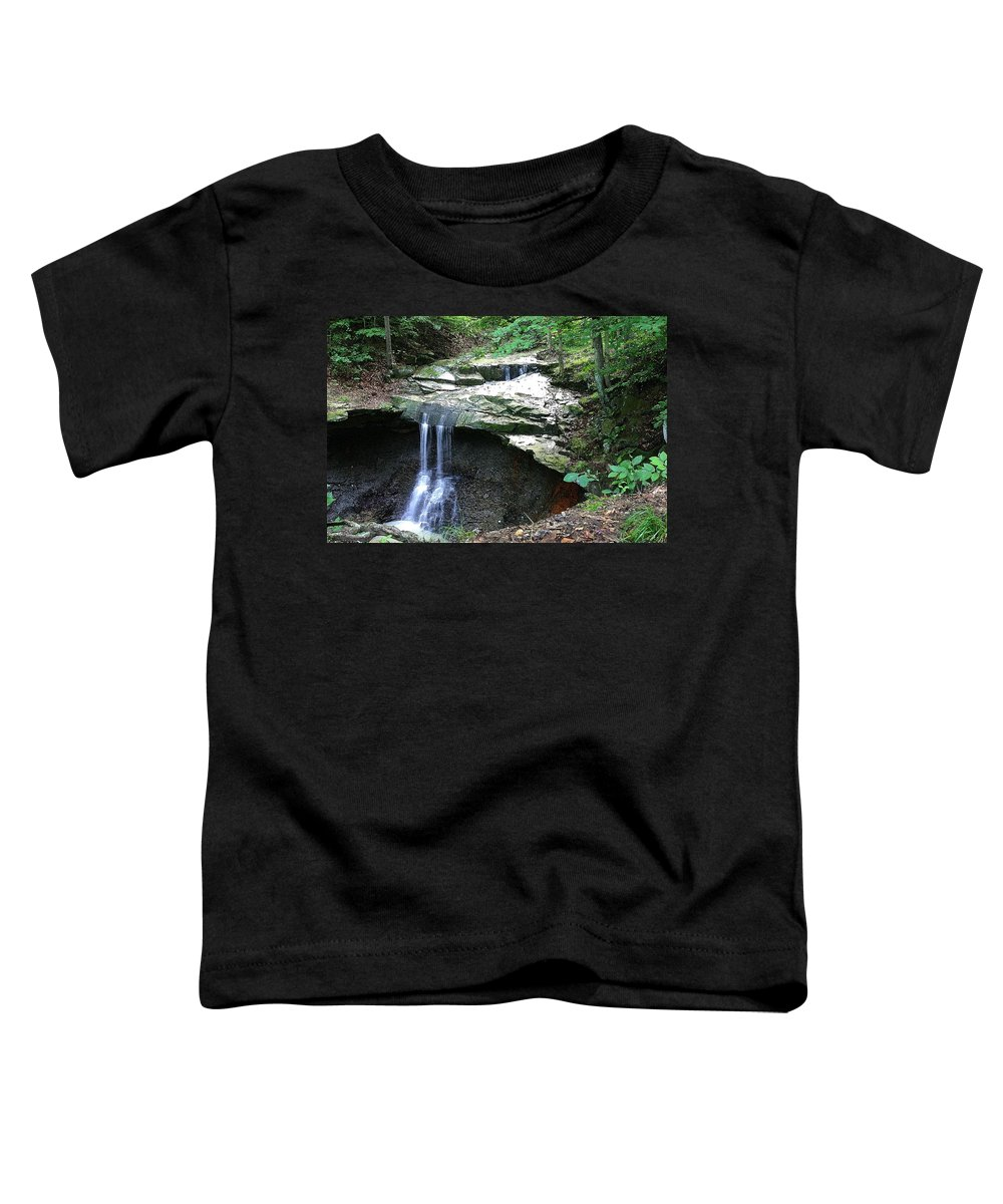 Waterfall. Water Toddler T-Shirt featuring the photograph Blue Hen Falls by Nelson Strong