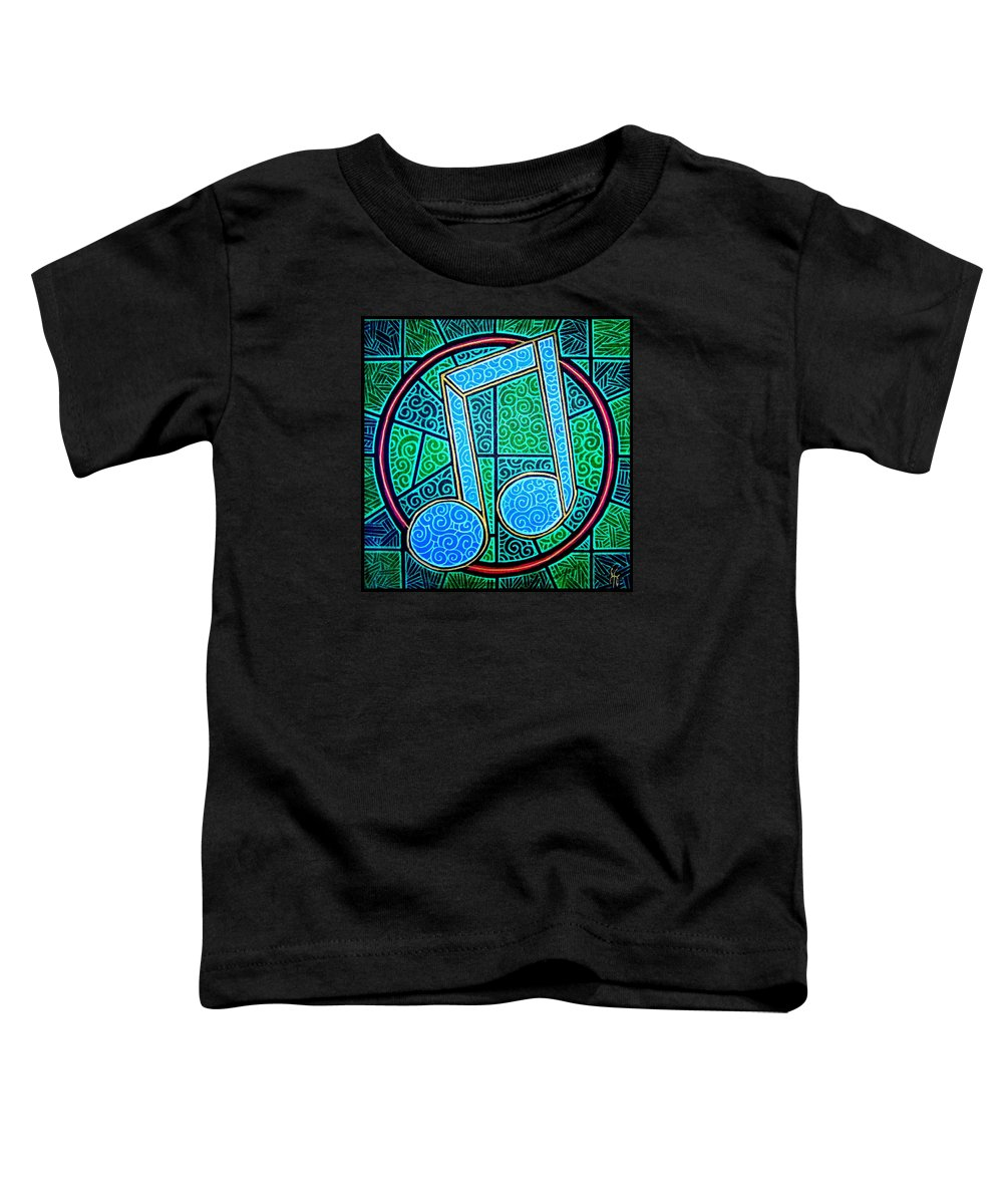 Music Toddler T-Shirt featuring the painting Blue Note by Jim Harris