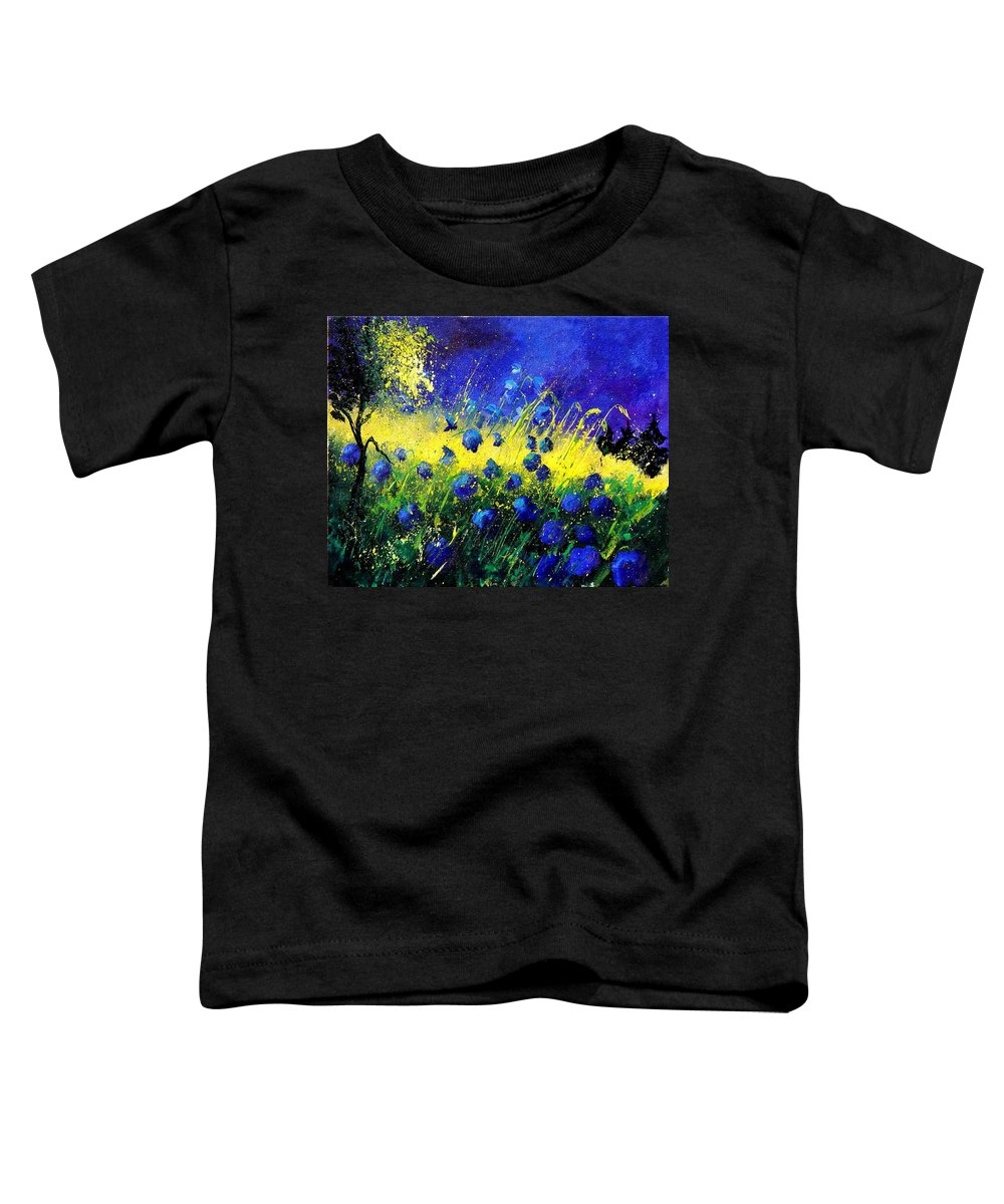 Flowers Toddler T-Shirt featuring the painting Blue Poppies by Pol Ledent