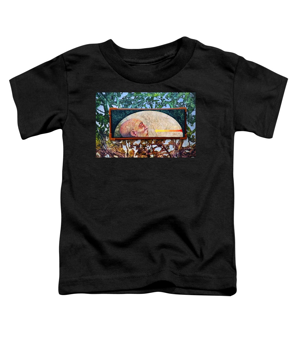 Surrealism Fantasy Fantastic Realism Decalcomania Otto Rapp The Mystic Toddler T-Shirt featuring the painting Bogomil Rising by Otto Rapp
