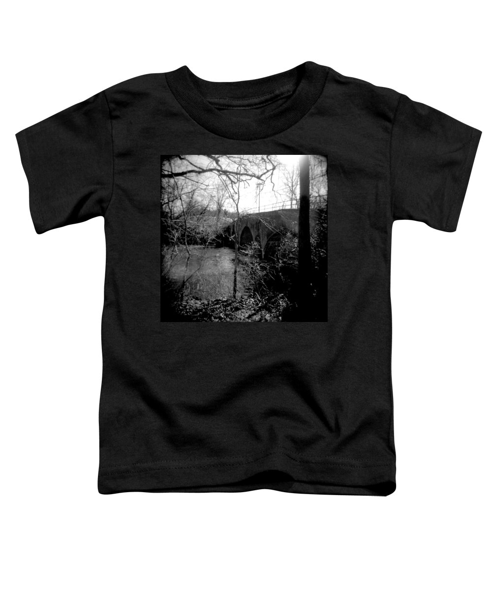 Photograph Toddler T-Shirt featuring the photograph Boiling Springs Bridge by Jean Macaluso