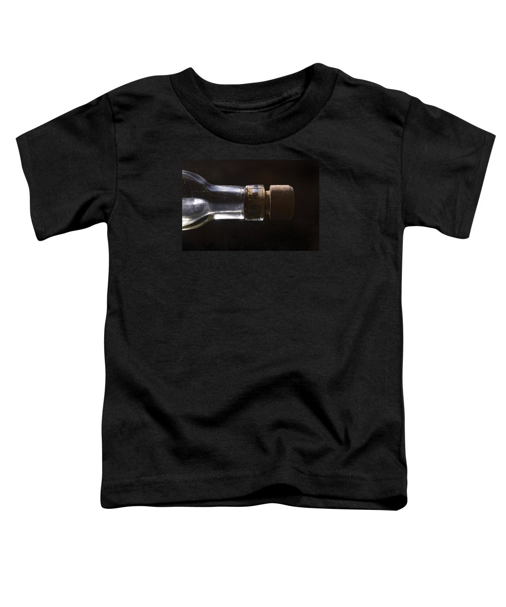 Cork Toddler T-Shirt featuring the photograph Bottle And Cork-1 by Steve Somerville