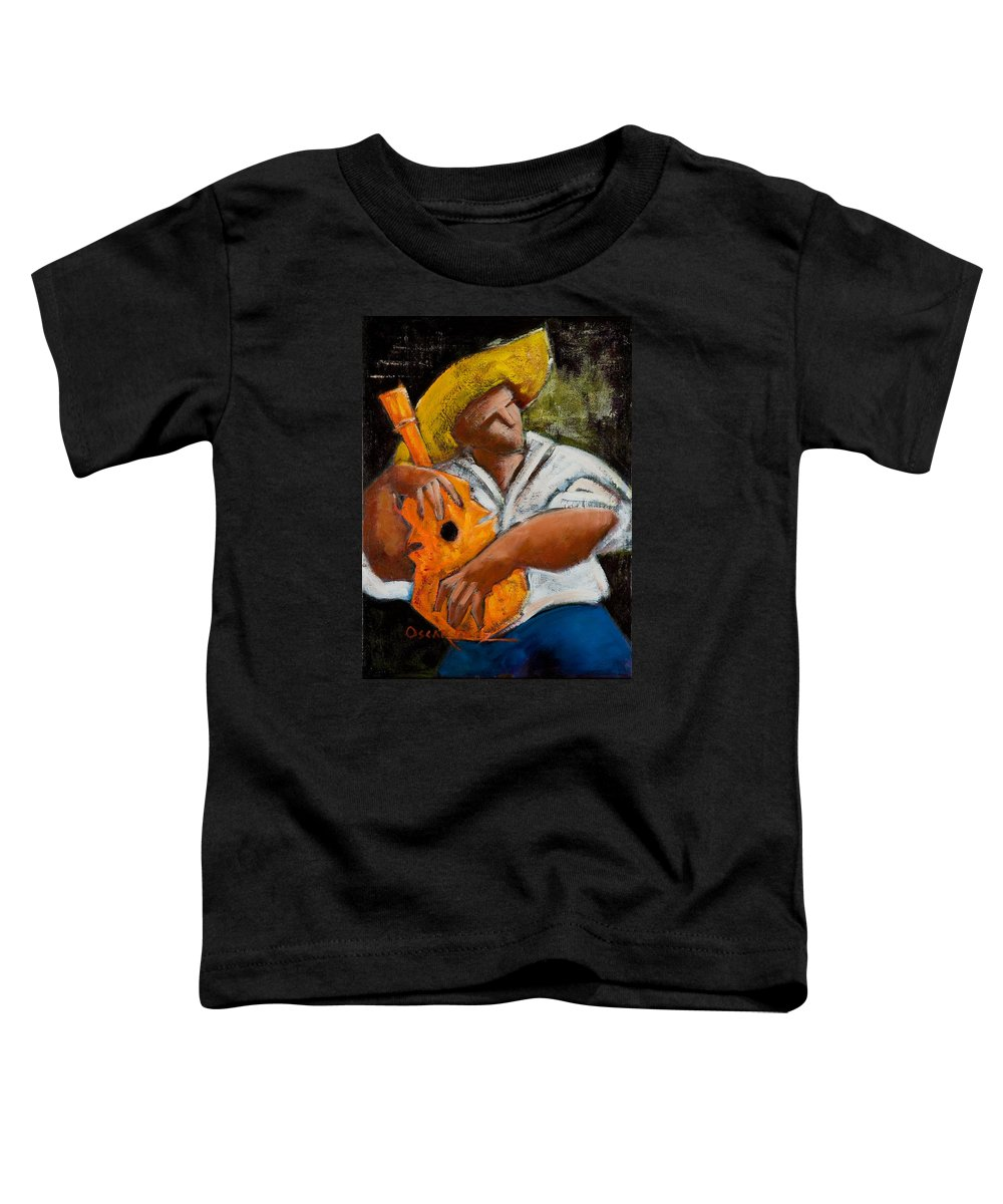Puerto Rico Toddler T-Shirt featuring the painting Bravado Alla Prima by Oscar Ortiz