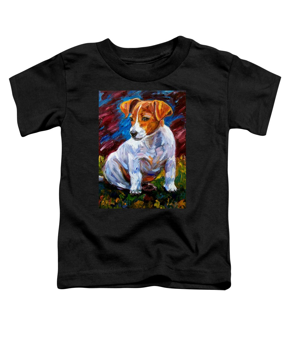 Dog Art Toddler T-Shirt featuring the painting Break Time by Debra Hurd