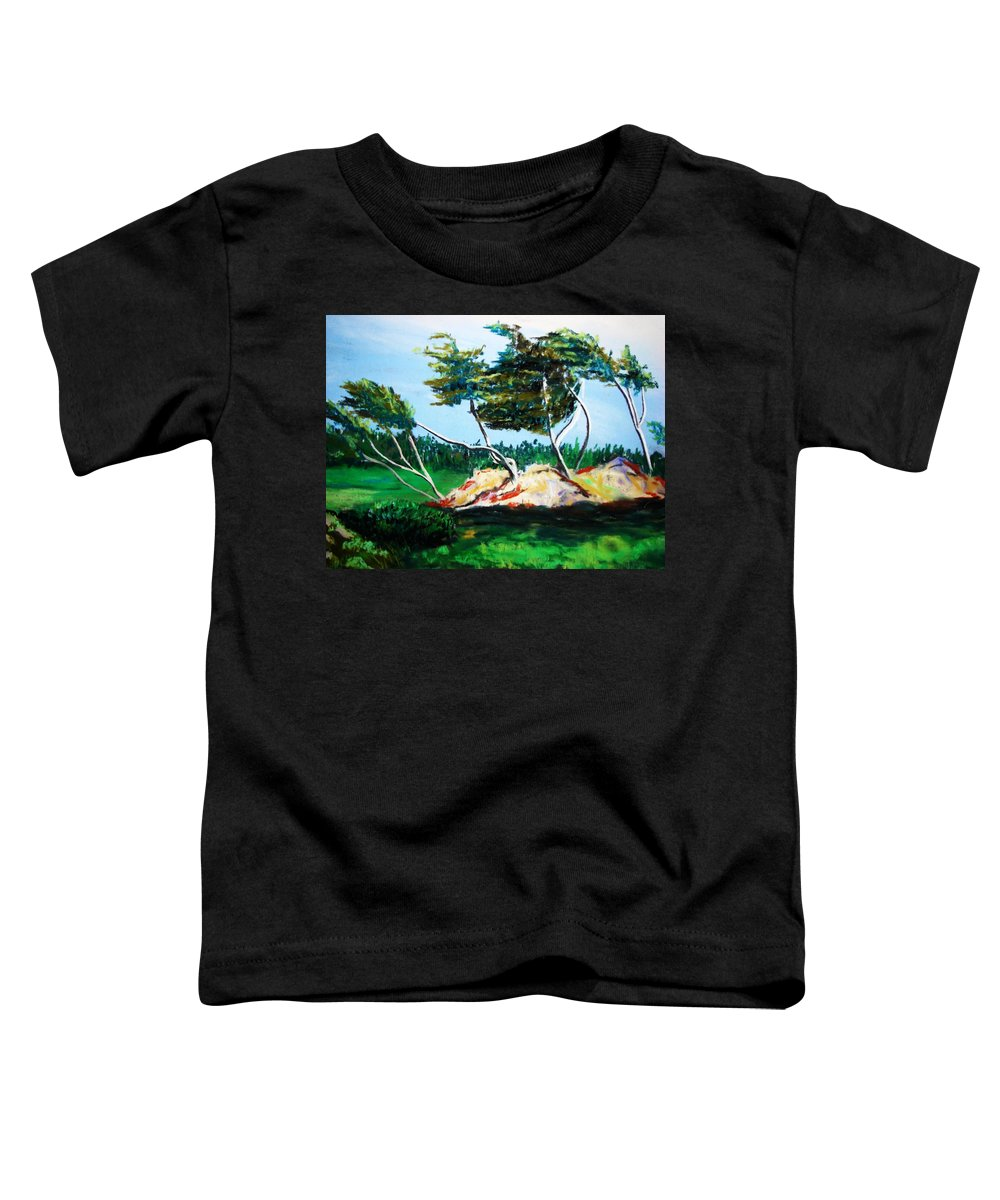 California Toddler T-Shirt featuring the painting Breezy by Melinda Etzold