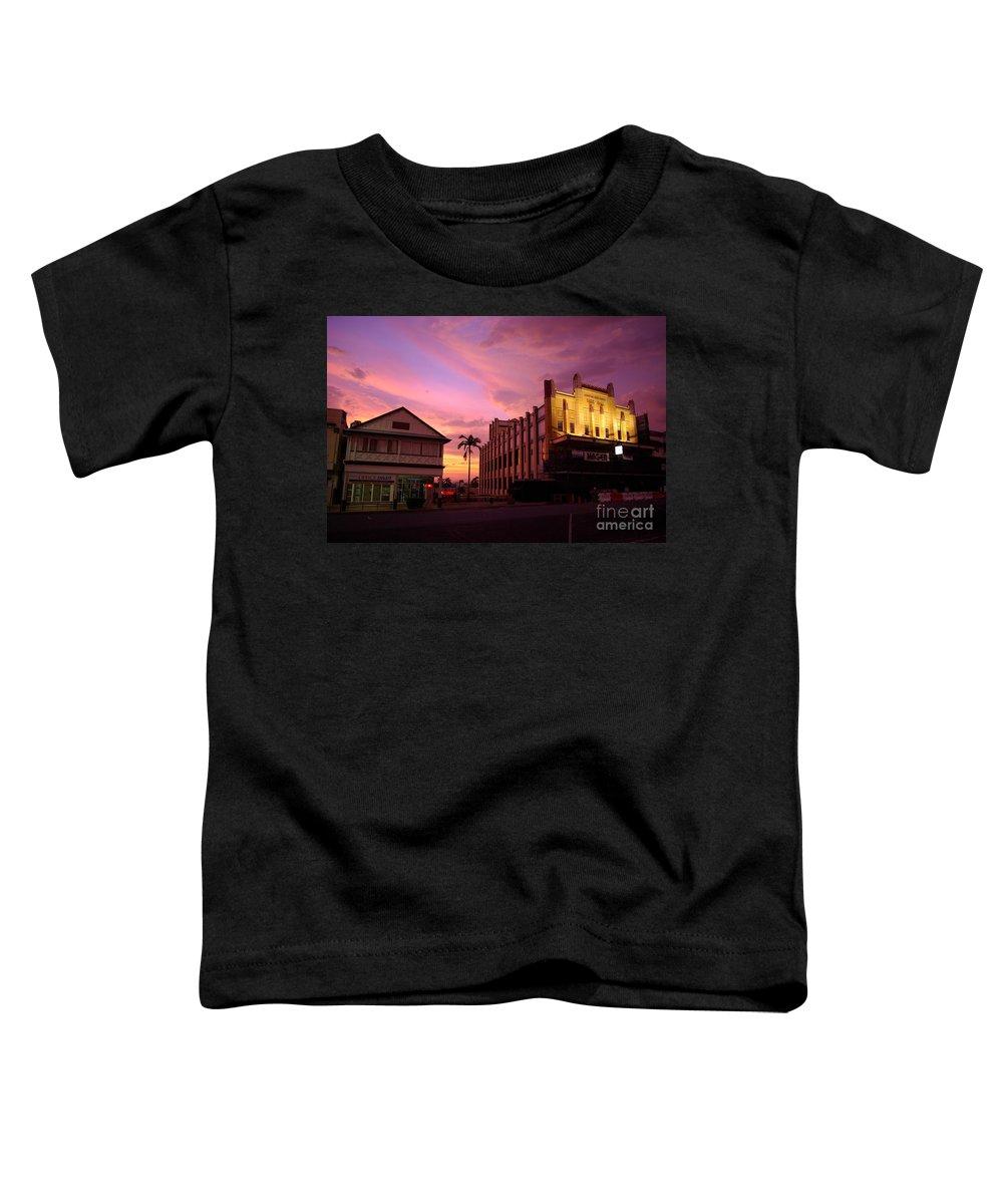 Evening Toddler T-Shirt featuring the photograph Brewing Storm by Kerryn Madsen- Pietsch