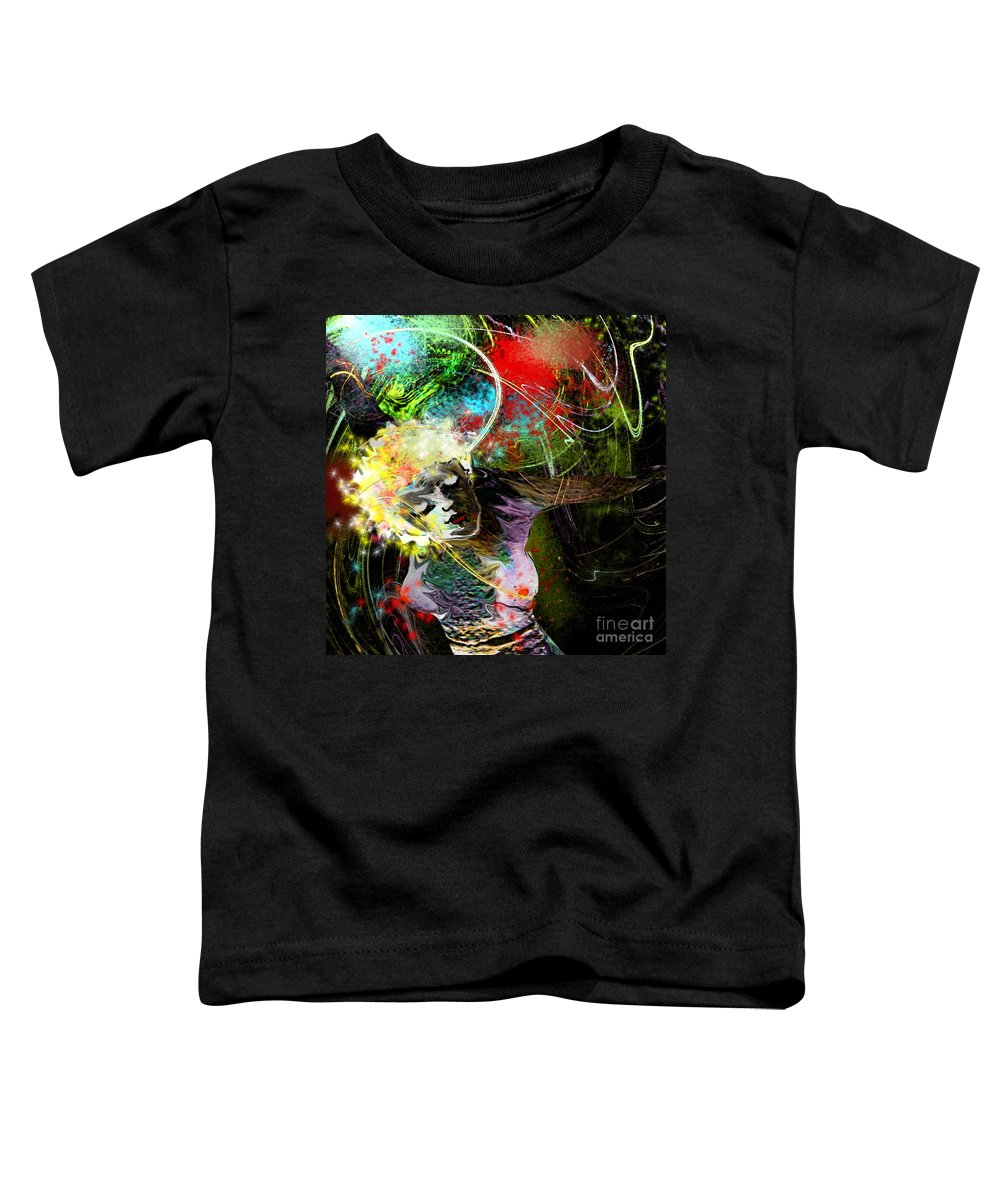 Fantasy Toddler T-Shirt featuring the painting Bride Of Halos by Miki De Goodaboom