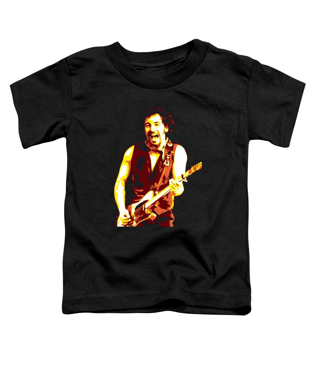 Bruce Springsteen Toddler T-Shirt featuring the digital art Bruce Springsteen by DB Artist