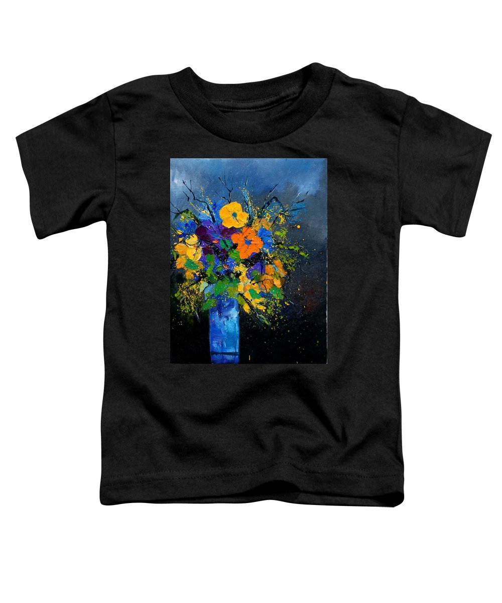 Poppies Toddler T-Shirt featuring the painting Bunch 1007 by Pol Ledent