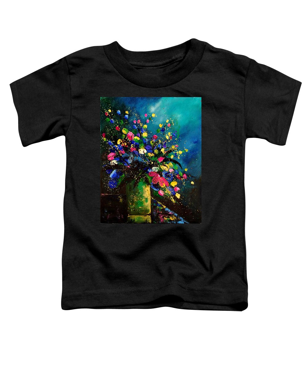 Poppies Toddler T-Shirt featuring the painting Bunch 45 by Pol Ledent