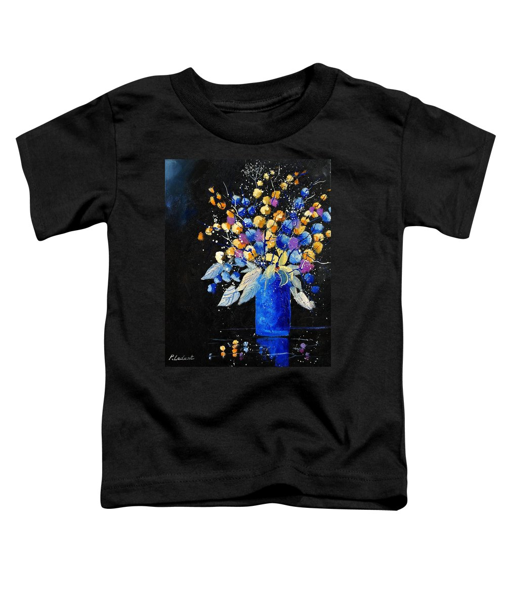 Flowers Toddler T-Shirt featuring the painting Bunch 451008 by Pol Ledent