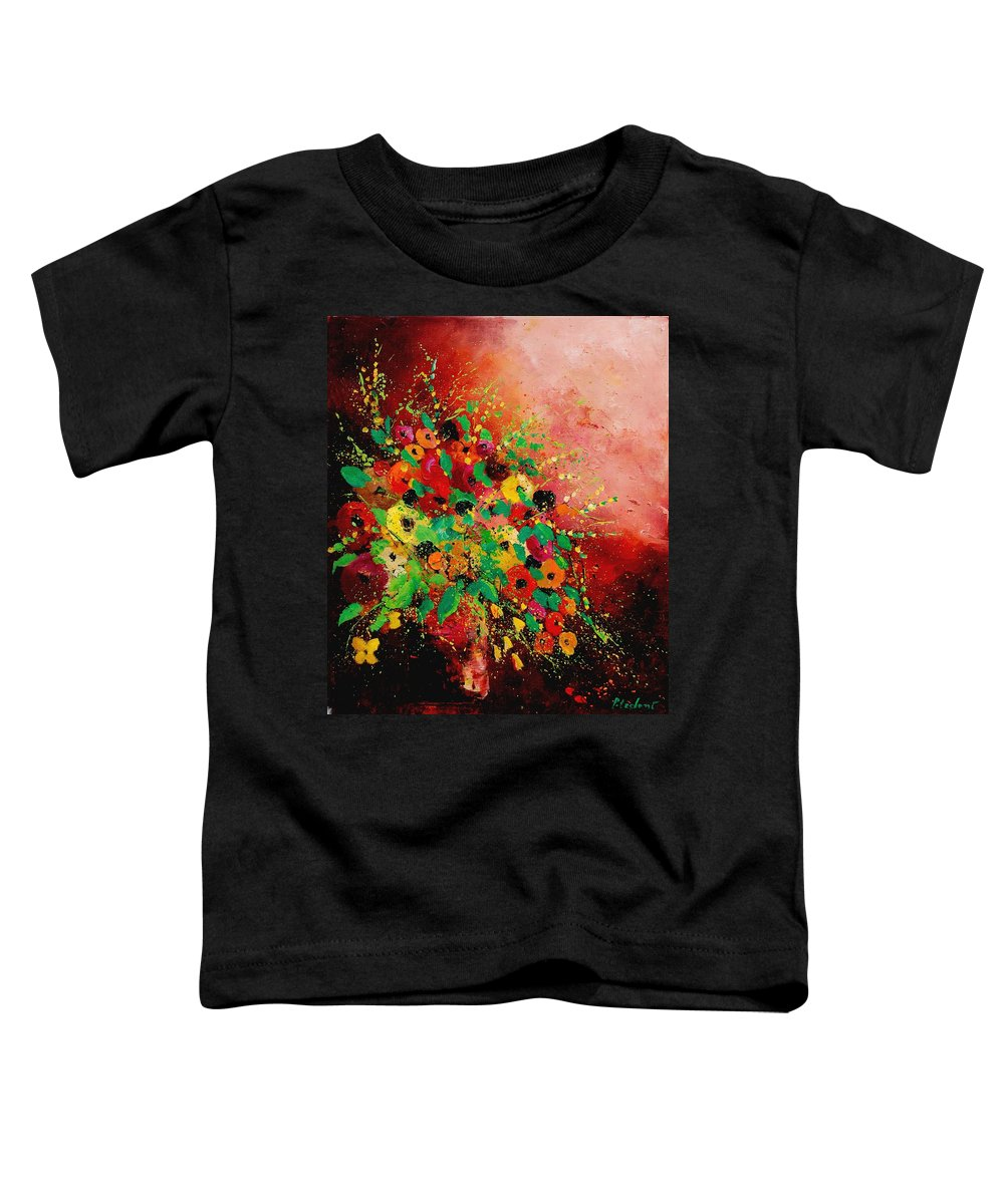 Flowers Toddler T-Shirt featuring the painting Bunch Of Flowers 0507 by Pol Ledent