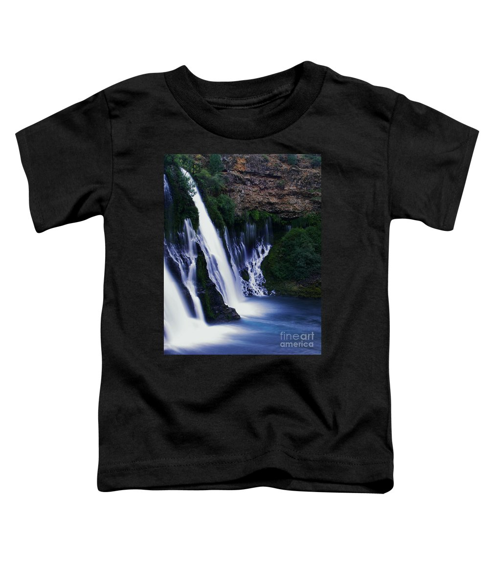 River Toddler T-Shirt featuring the photograph Burney Blues by Peter Piatt