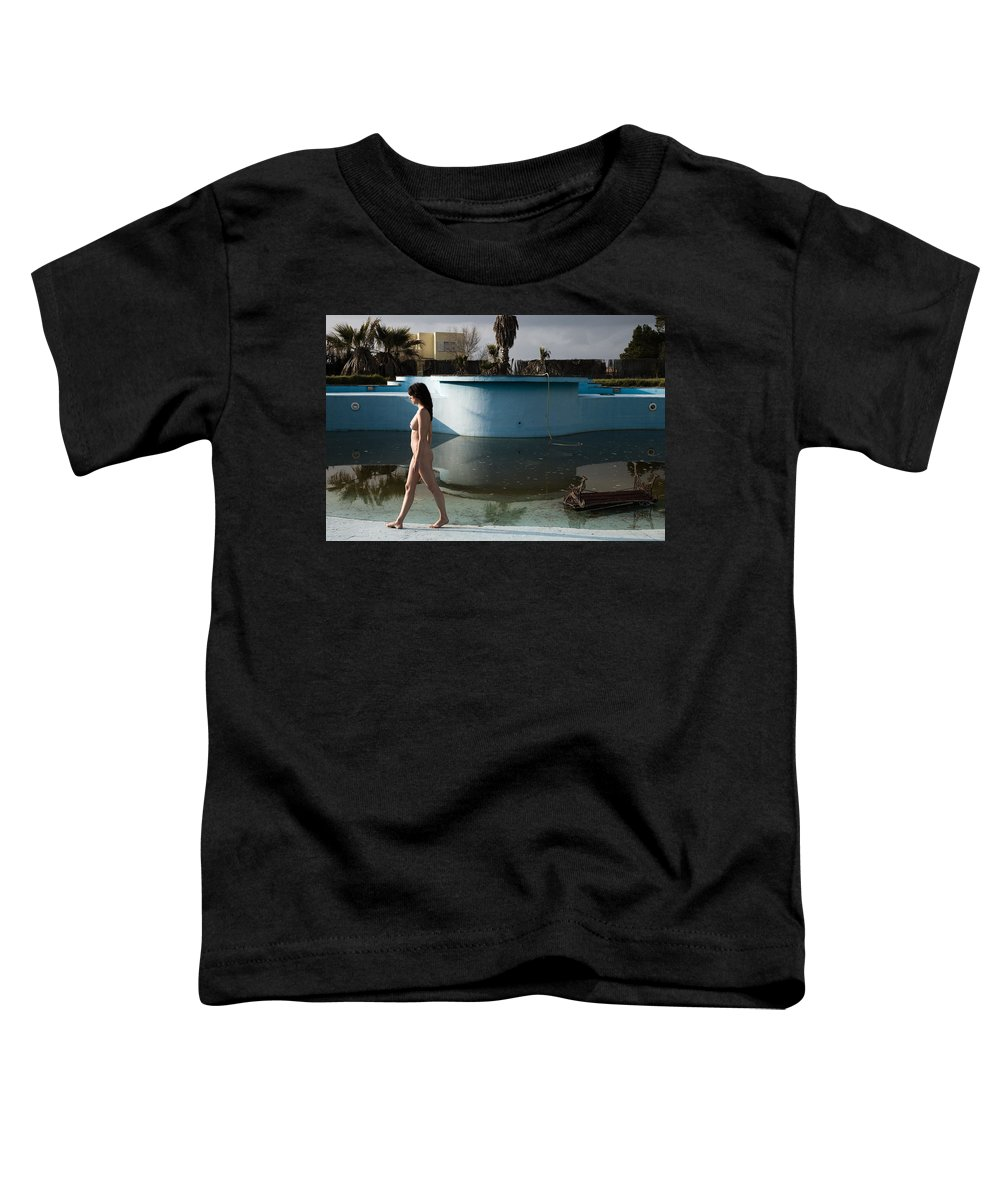 Nudes Toddler T-Shirt featuring the photograph By The Old Pool by Olivier De Rycke