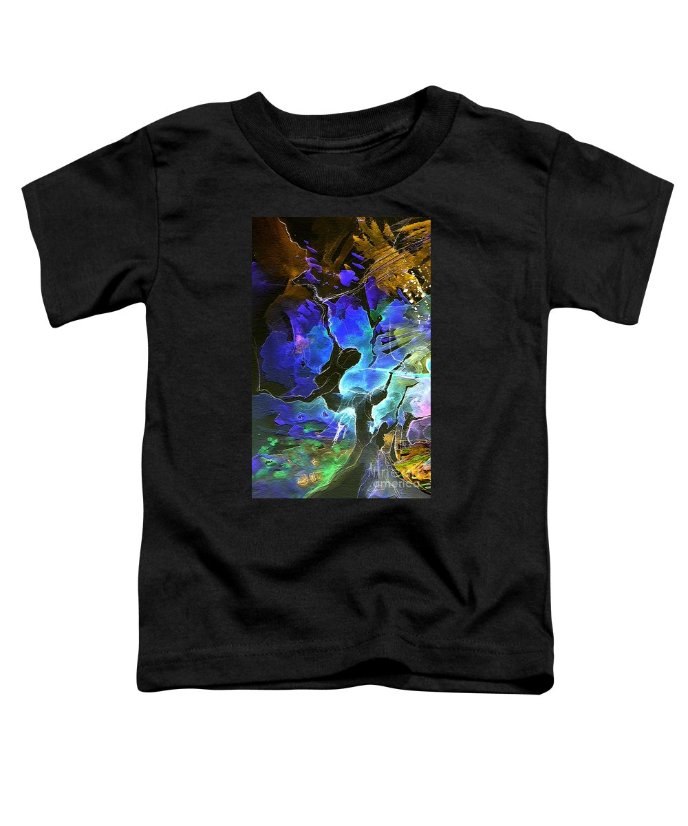 Miki Toddler T-Shirt featuring the painting Bye by Miki De Goodaboom