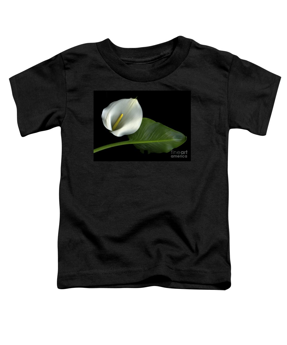 Scanography Toddler T-Shirt featuring the photograph Calla Lily by Christian Slanec