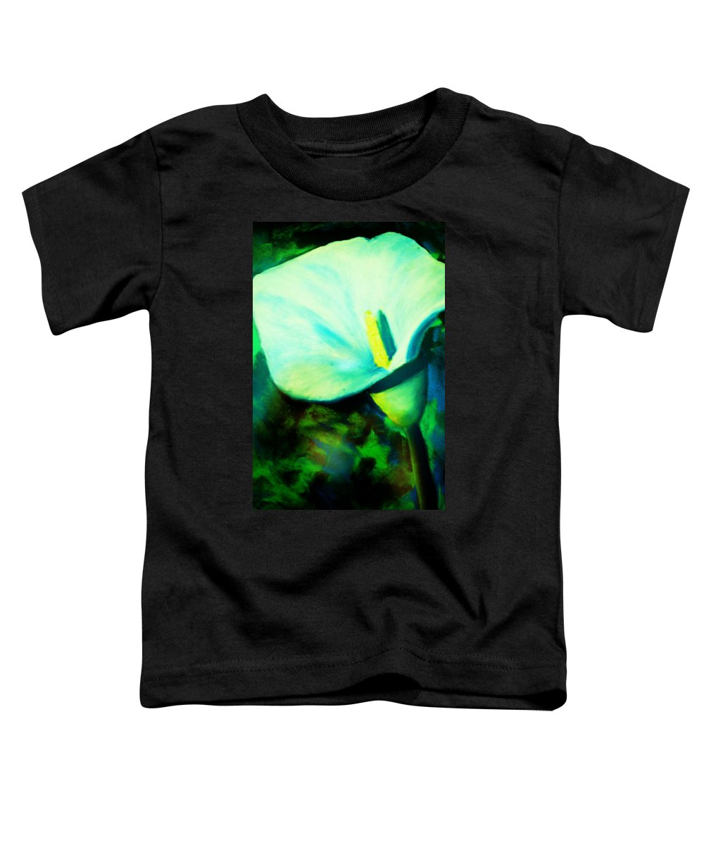 White Calla Lily Toddler T-Shirt featuring the painting Calla Lily by Melinda Etzold