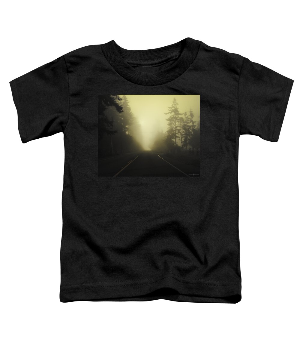 Fog Toddler T-Shirt featuring the photograph Camano Island Fog by Tim Nyberg