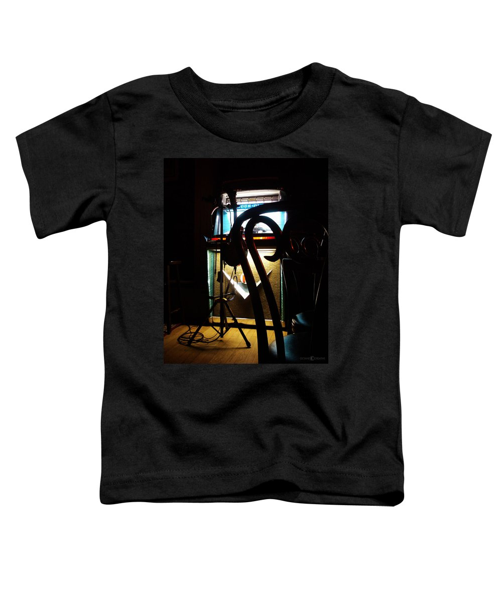 Music Toddler T-Shirt featuring the photograph Canned Music by Tim Nyberg