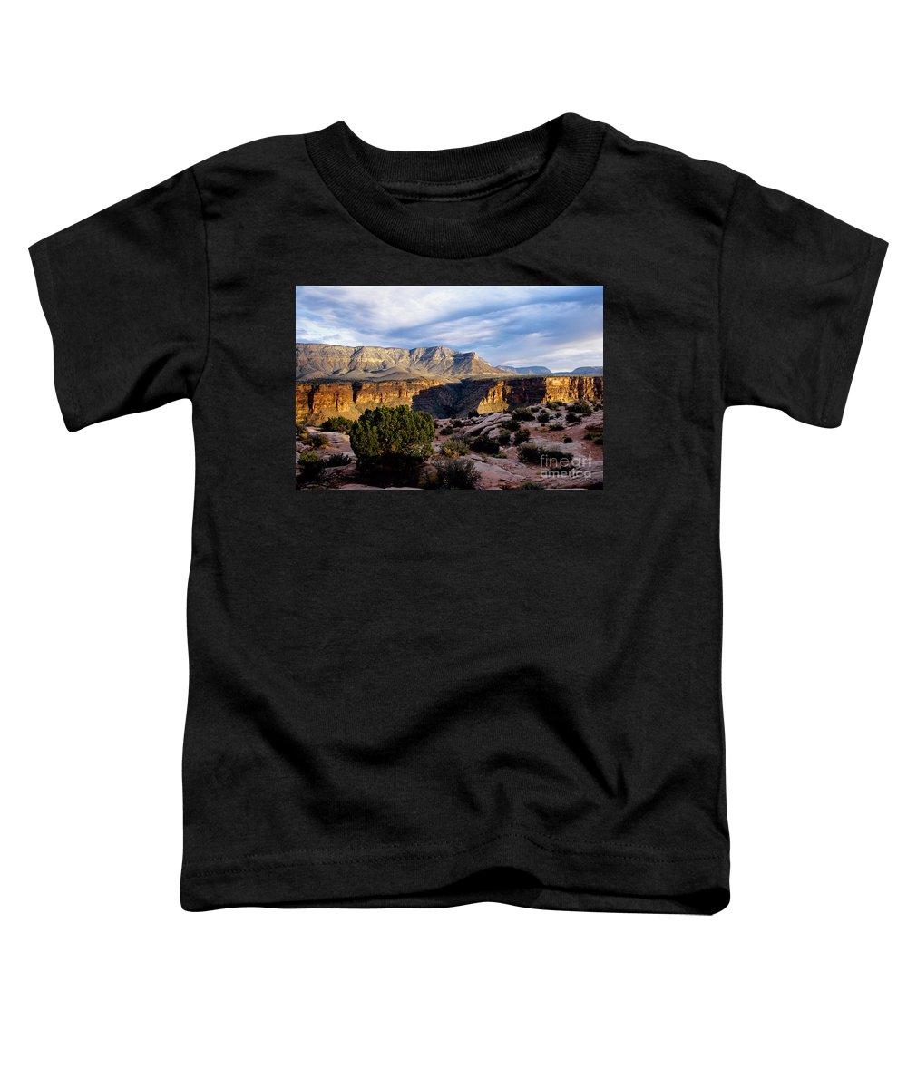 Toroweap Toddler T-Shirt featuring the photograph Canyon Walls At Toroweap by Kathy McClure