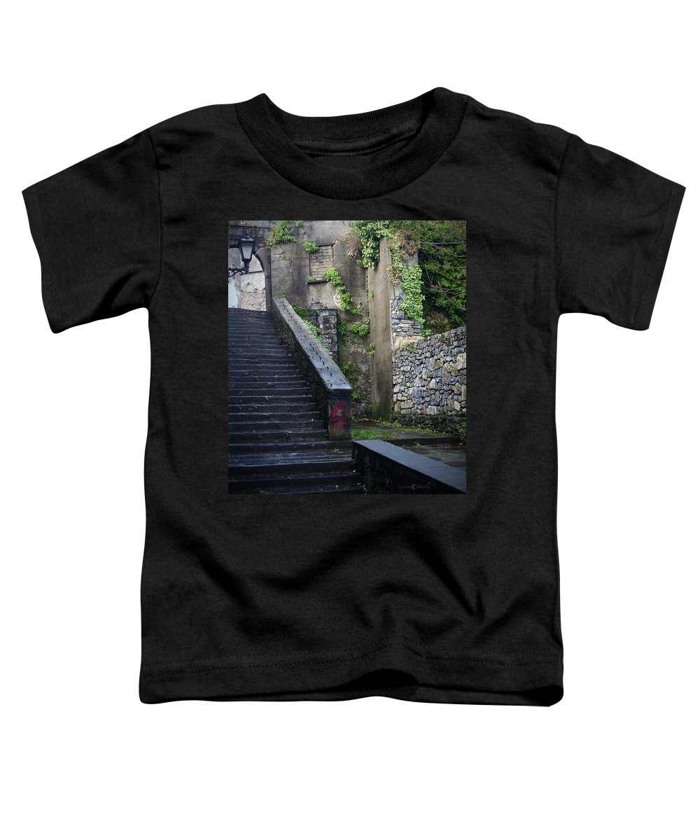 Stairs Toddler T-Shirt featuring the photograph Cathedral Stairs by Tim Nyberg