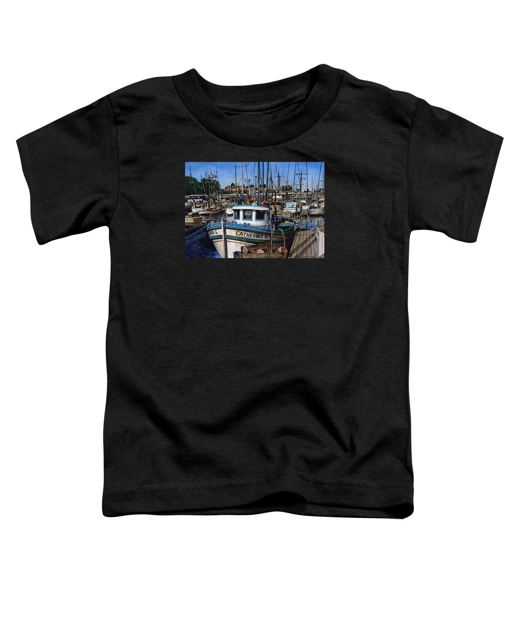 Transportation Toddler T-Shirt featuring the painting Catherina G by James Robertson
