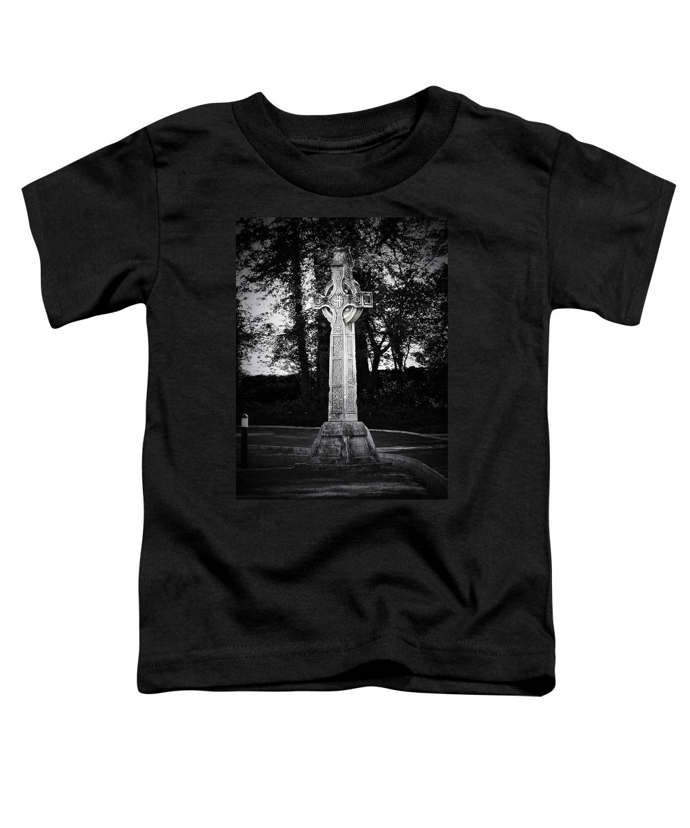 Irish Toddler T-Shirt featuring the photograph Celtic Cross In Killarney Ireland by Teresa Mucha