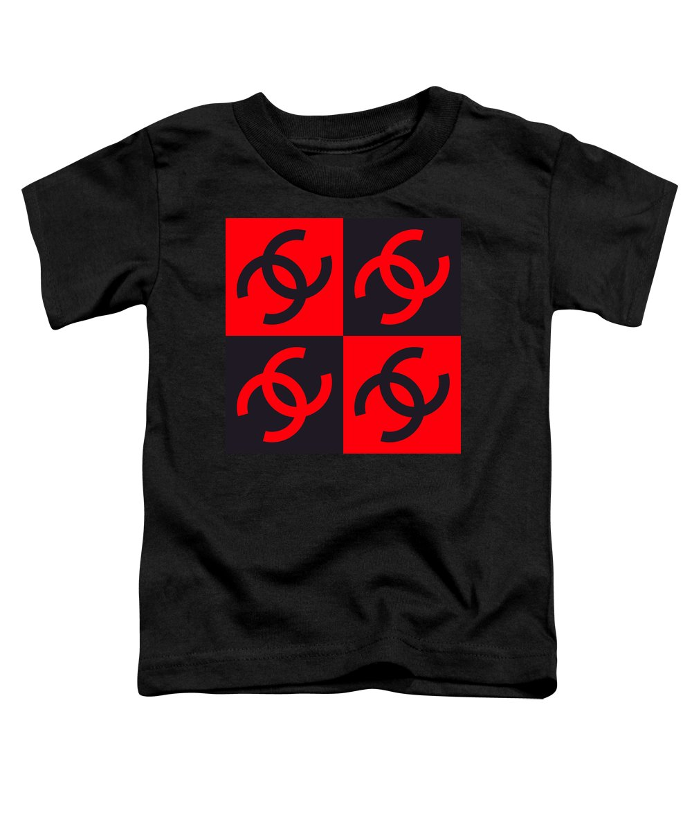 Chanel Toddler T-Shirt featuring the mixed media Chanel Design-3 by Three Dots