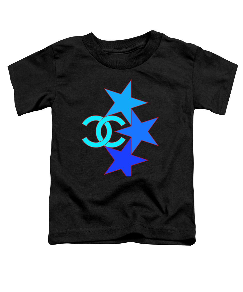 Chanel Toddler T-Shirt featuring the painting Chanel Stars-5 by Nikita
