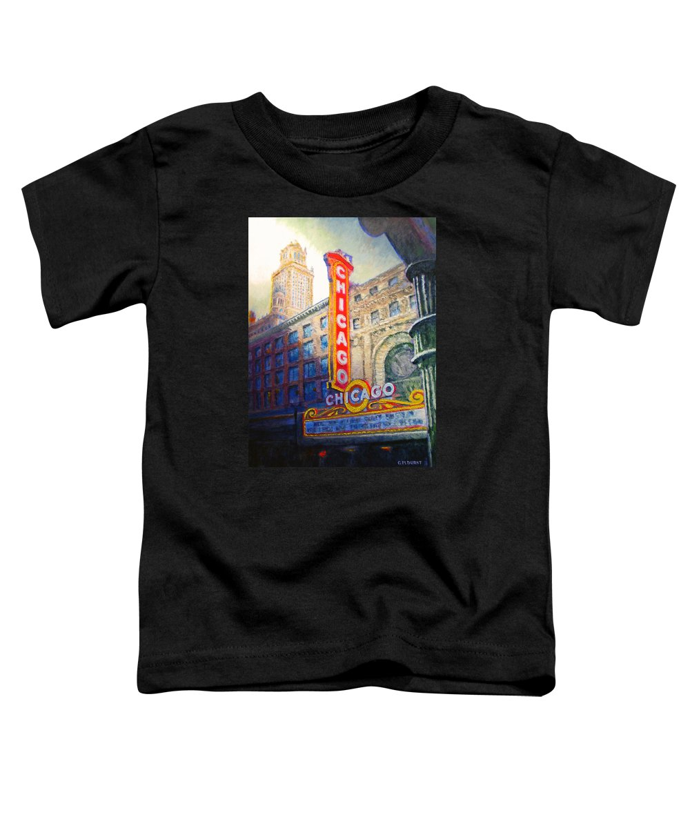 Chicago Toddler T-Shirt featuring the painting Chicago Theater by Michael Durst