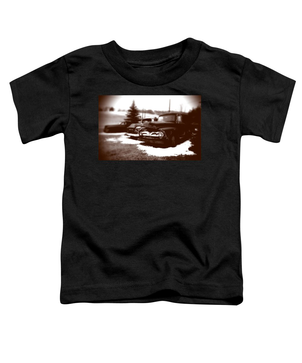 Old Cars Toddler T-Shirt featuring the photograph Chocolate Ghosts by Jean Macaluso