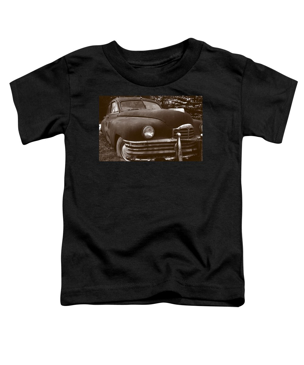 Old Car Toddler T-Shirt featuring the photograph Chocolate Moose by Jean Macaluso