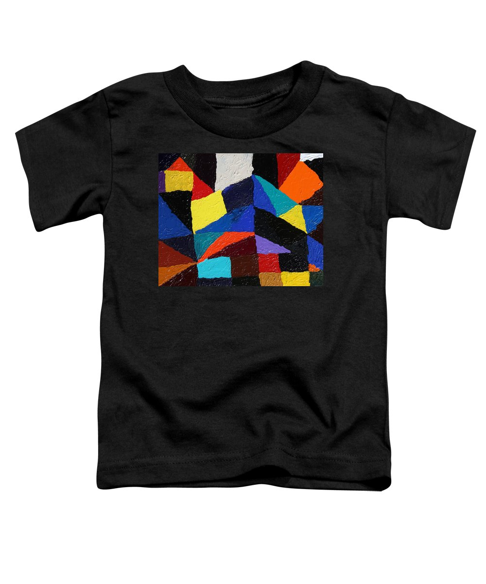 Fusionart Toddler T-Shirt featuring the painting Cityscape by Ralph White
