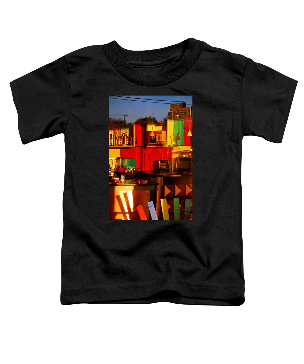 Skip Hunt Toddler T-Shirt featuring the photograph Coffee Shop by Skip Hunt