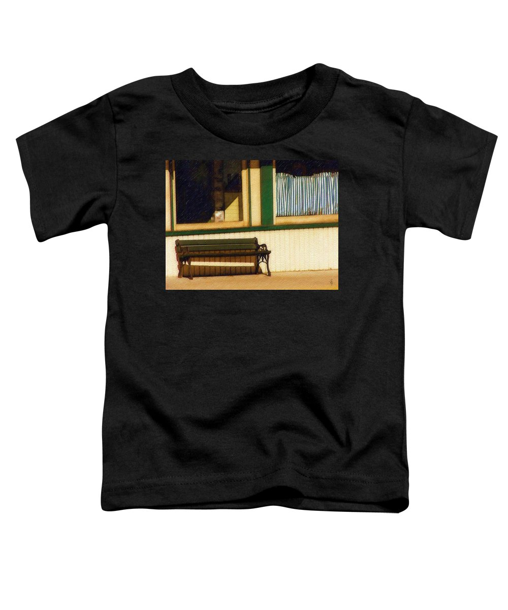 Bench Toddler T-Shirt featuring the photograph Come Sit A Spell by Sandy MacGowan