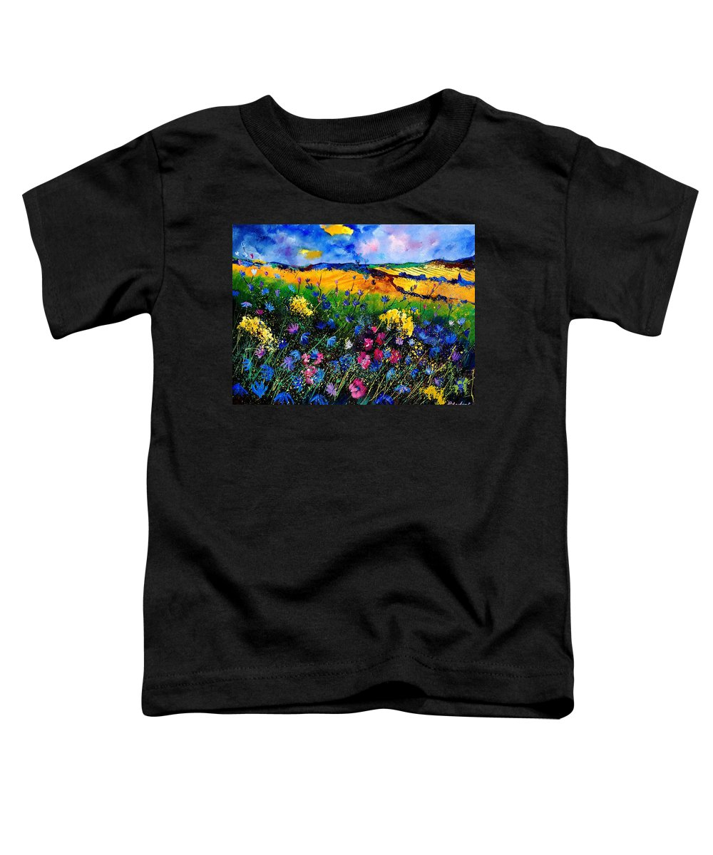Flowers Toddler T-Shirt featuring the painting Cornflowers 680808 by Pol Ledent