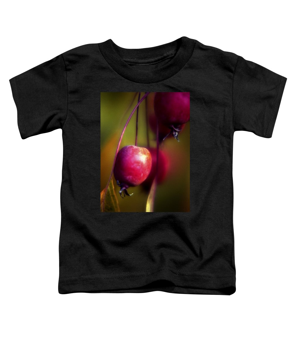 Macro Toddler T-Shirt featuring the photograph Crabapple by Lee Santa
