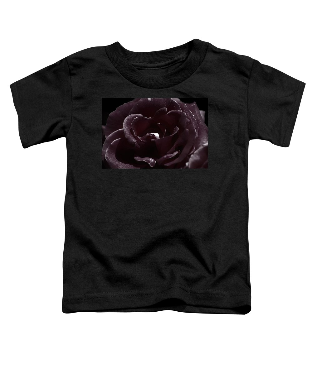Clay Toddler T-Shirt featuring the photograph Cranberry Rose by Clayton Bruster