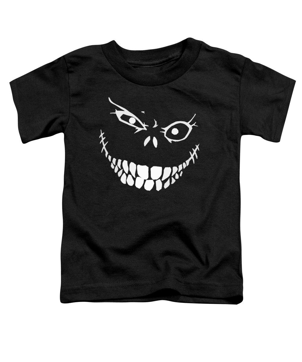 Monster Toddler T-Shirt featuring the digital art Crazy Monster Grin by Nicklas Gustafsson